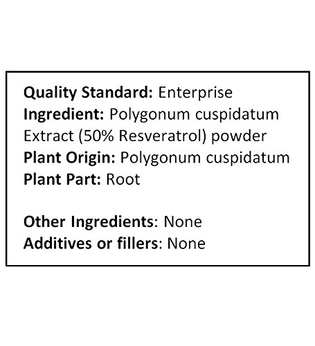 NuSci Pure Resveratrol Powder Standardized Extracted from Polygonum Cuspidatum Root (250 grams (8.8 oz)) by NuSci (Image #3)
