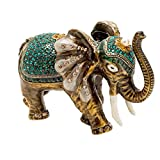 Alexander Kalifano KALIFANO Aqua Elephant Crystal Jeweled Box made with Swarovski Elements Crystals