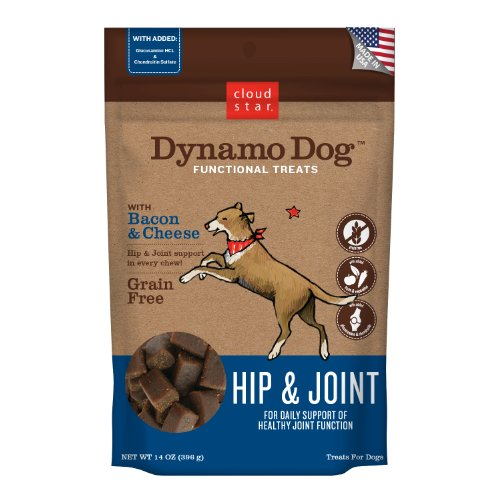 Cloud Star Dynamo Dog Hip and Joint Functional Treat Pouches, Bacon and Cheese, 14-Ounce, My Pet Supplies