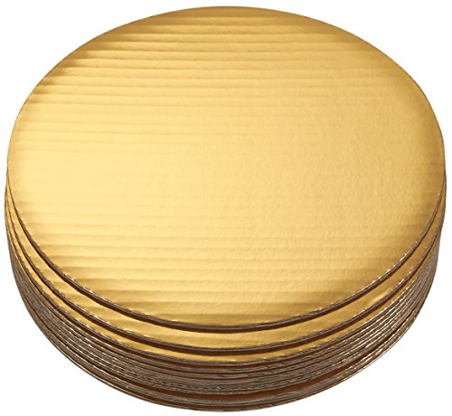 - Cake Boards - 12-Piece Cardboard Round Cake Circle Base, 10 Inches Diameter, Gold