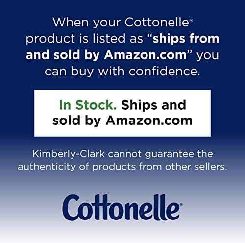 Cottonelle Ultra ComfortCare Soft Toilet Paper with Cushiony Cleaning Ripples, Family Mega Rolls, 325 Sheets Per Roll, 18 Count (Pack of two)