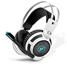 Pyle PGPHONE80 - Professional PC Gaming Headset with Mic - USB Headphones and Microphone