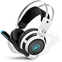 Pyle PGPHONE80 - Professional PC Gaming Headset with Mic - USB Headphones and Microphone for Windows Mac Computer Games - 7.1 Virtual Surround Sound Audio