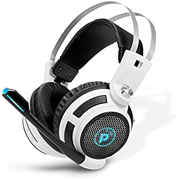 Pyle PC Wired Gaming Headphones - Professional Gamer USB Stereo Headset and Microphone for Windows Mac Computer Video Games - Braided Cable and 7.1 Virtual ...