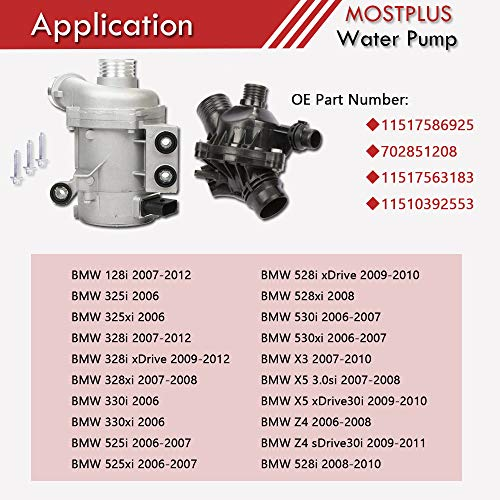 80%OFF MOSTPLUS New Electric Engine Water Pump and Thermostat For