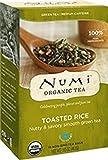 Numi Organic Tea Toasted Rice Sencha, 18 Bags, Organic Green Tea in Non-GMO Biodegradable Tea Bags, Premium Bagged Organic Green Tea, Organic Sencha with Toasted Rice (Packaging May Vary)