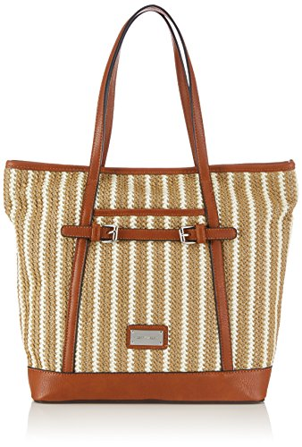 Gerry Weber Blue Lagune Tote - Bolso de mano de tela mujer marrón - Braun (light brown)