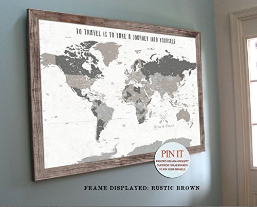 Amazon rustic push pin map 24x36 inches personalized home rustic push pin map 24x36 inches personalized home office decor destination wedding map gumiabroncs Gallery