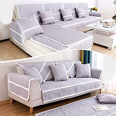 Amazon.com: Slipcover Sofa Covers Cotton Jacquard Anti-slip ...