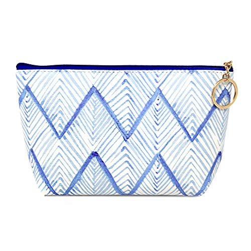 - Me Plus Women Small Portable Travel Cosmetic Organizer Clutch Pouch Bag with Zipper Closure (10 Patterns) (CHEVRON)