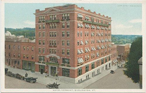 Historic Pictoric Postcard Print | Hotel Vermont, Burlington, Vt, 1898 | Vintage Fine -
