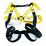 MSA 10072493 Workman Harness with Back/Hip D-Rings, Tongue Buckle Leg Straps and Qwik-Fit Chest Strap, Super X-Large