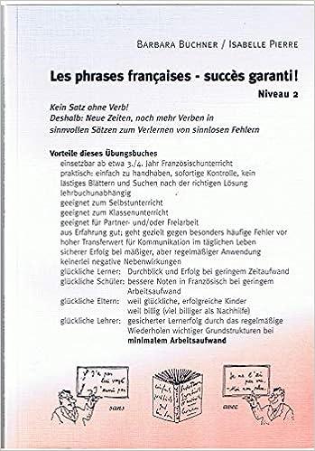 Les Phrases Françaises Succes Garanti Niveau 2 Kein Satz Ohne Verb Buchner Barbara Pierre Isabell Bücher