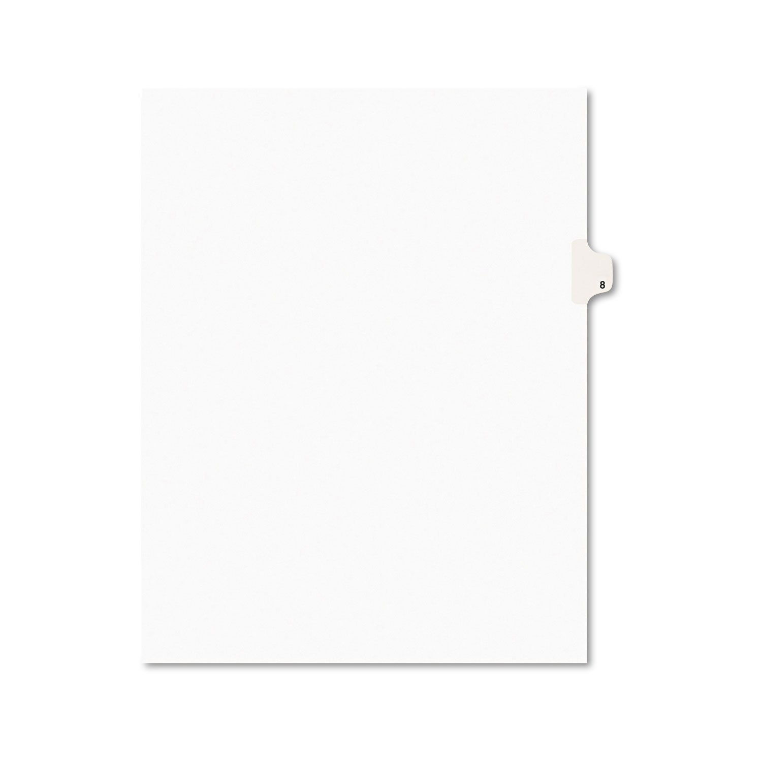 Avery Legal Exhibit Tab Dividers, Tab Title: 8, White, Letter, 25/Pack (11918) by AVERY