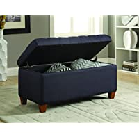 Coaster 500066 Home Furnishings Storage Bench, Dark Navy