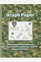 Graph Paper Math Composition Notebook Quad Ruled 5 squares per inch  Square Grid Paper Paperback