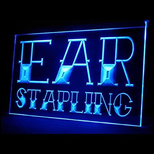 100014 Ear Stapling Tattoo Piercing Body Art Display LED Light Sign by Easesign