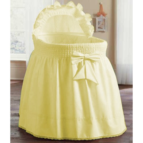aBaby Smocked Bassinet Skirt, Yellow, Small 009243440666