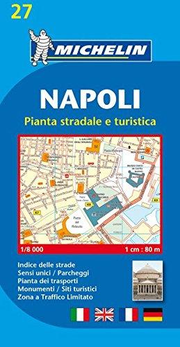 Michelin Napoli: Stadtplan 1:8.000 (MICHELIN Stadtpläne, Band 27)