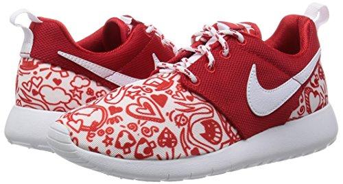 university Roshe white Bambina Scarpe Nike gs Rosso Print black Ginnastica Da Red One dPP6qz