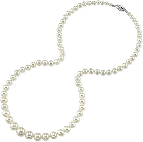 "52/"" 4-9mm Champagne Graduated Freshwater Pearl Necklace Fashion Jewelry U"