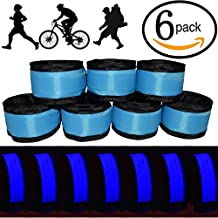 ANERSUS LED Glow Slap Bracelet, Light Up Wristband 6 or 7 Pack High Visibility Safety Band for Cycling Walking Running Concert Camping Outdoor Sports-Fits Women, Men & Kids