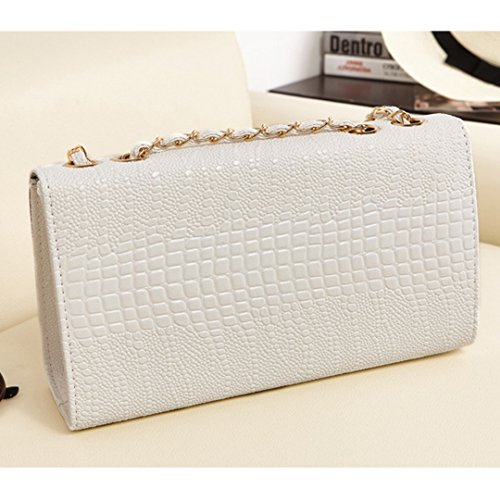 Bag Cross Shoulder Flap Bag Body Fashionable Leathe Womens Felice Convertible Faux Textured White nwRYU0xzq