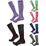 Compression Soccer Socks, Gmark Unisex Over The Calf Moderate (15-20mmHg) Graduated Football Socks 3,6 Pairs