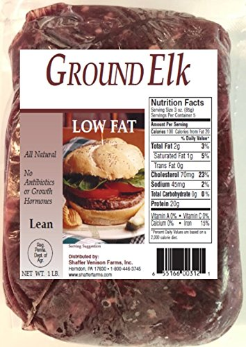 100% Ground Elk 10-1 lb packs (total 10 lbs)