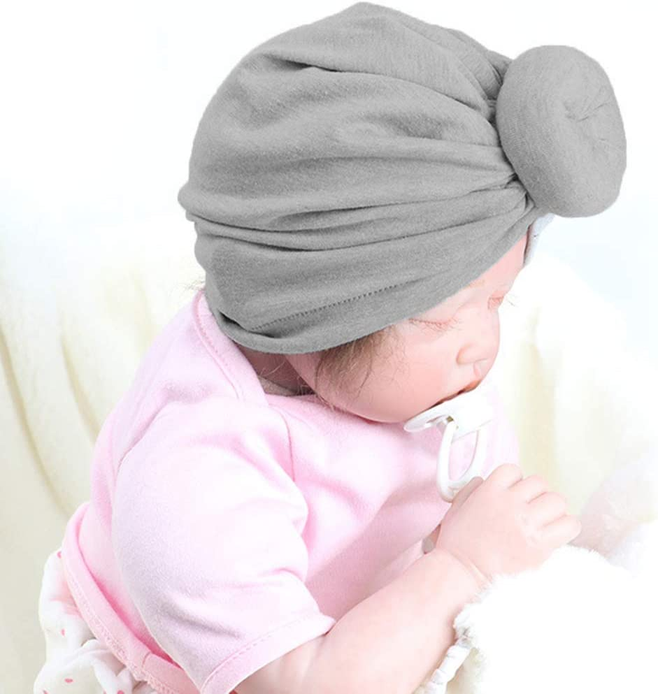 Qinghengyong Kids Baby Turban Knot Baby Headdress Headbands Toddler wrap Toddler Bohemian Knot Wrap Hat 1-2 Years Old Mint green