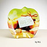 Glass Rosh Hashanah Apple Dish