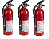 Kidde 21005779 Fire Extinguisher, ABC, 160CI, 4 lbs rhTdFM, 3Pack (Pro 210)