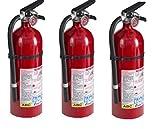 Kidde 21005779 Fire Extinguisher, ABC, 160CI, 4 lbs rhTdFM, 3Pack (Pro 210)