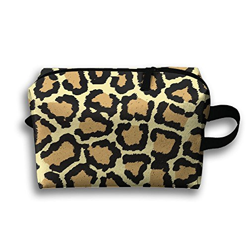 (Giraffe Print Pattern Cosmetic Bags Makeup Organizer Bag Pouch Zipper Purse Handbag Clutch Bag)