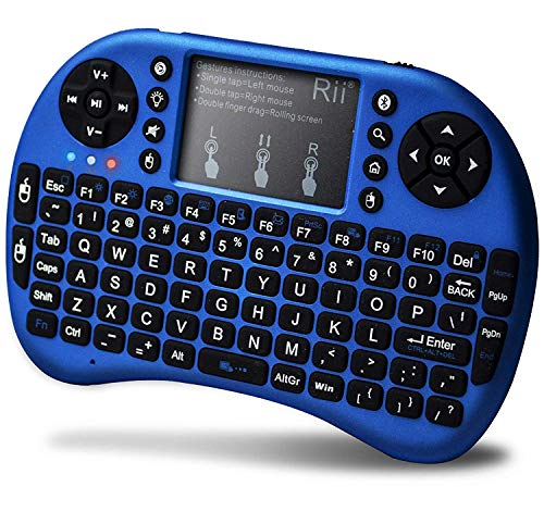 Pikyo FZ76 Multi Functional Mini Bluetooth Keyboard with in-Built Touch Pad Connect with Android TV/Computer/Laptop/Mobiles & Other Devices (Multi Color)