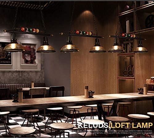 Kreative Persönlichkeit Kronleuchter Industrie Wind Retro Internet Cafe Bar Cafe Hotel Kronleuchter Deckenleuchte Mode 2 Kopf Billiard Art Beleuchtung