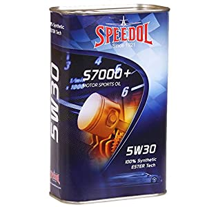 Speedol S7000+ Motor Sports Oil 5W-30 High Performance 100% Full Synthetic ESTER Tech Motorcycle Oil | In Premium Tin Can Packaging | 1.06 Quart (1 Liter)