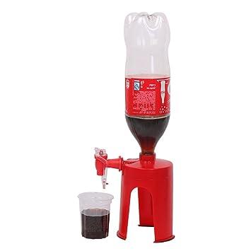 Rojo plástico cerveza/agua/bebidas dispensador de bebidas con interruptor rosso: Amazon.es: Hogar