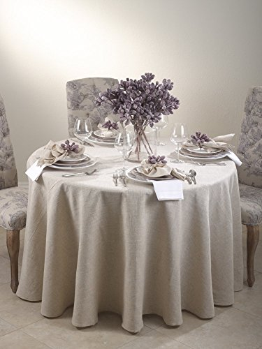 Fennco Styles Linen Blend Natural Napkin Set - 20-inch by 20-inch - 4 Pack by fenncostyles.com (Image #1)