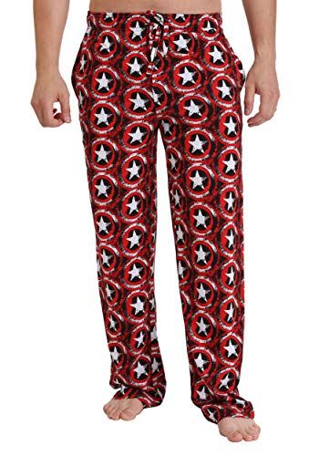 Marvel Captain America Shield Lounge Pants Large Red