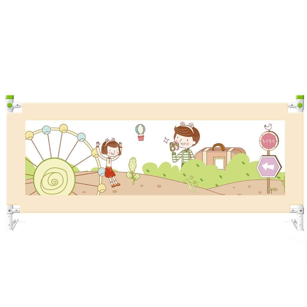 NYDZDM 高さ調整可能な幼児用ベッドレールガード垂直昇降ベッドガード安全保護ガード、ベビーベッド、キッズツイン、ダブル、フルサイズクイーン&キング (Size : 2.2m) 2.2m  B07V59LR2S