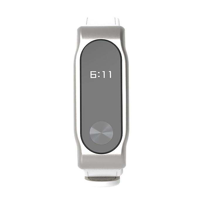 Xiaomi Mi Band 2-Mijoas Cuero Elegante Pulsera de Reloj para Xiaomi Miband 2,Correa de Cuero con Correas de Piel de imitación Ultra-Delgadas Beikoard: ...