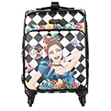Nicole Lee Print Collection 20'' Expandable Spinner Carry-On Luggage (Lily Loves