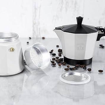 Cecotec Cafetera italiana Mimoka 600 Beige. Fabricada en Aluminio fundido, Apta para todo tipo de cocinas, Para 6 tazas de café: Amazon.es: Hogar