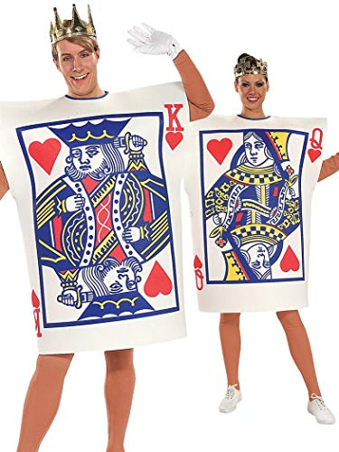 Casino Themed Halloween Costumes (Rubie's King and Queen of Hearts Adult Costume)