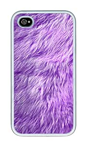 iPhone 4 Case,iPhone 4S Case,VUTTOO iPhone 4 Cover With Photo: Furry For Apple iPhone 4/4S - TPU White