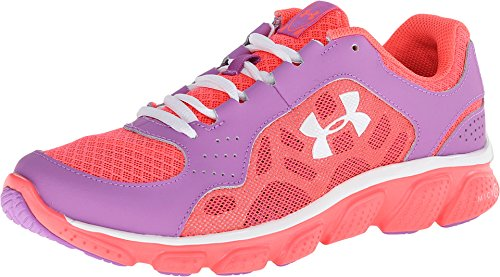 Price comparison product image Kids Under Armour Girls GS Micro G Assert IV, Exotic Bloom/Open Purple, 6 Big Kid M