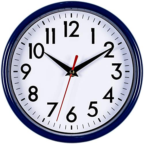"Bernhard Products - Navy Blue Wall Clock 8"" Silent for sale  Delivered anywhere in USA"