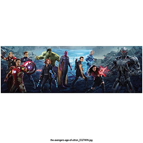 Avengers Age of Ultron, Iron Man, Thor, Captain America, Hulk, Black Widow, Falcon, Hawkeye, Quicksilver&Scarlet Witch in Action Poses Against Ultron 8 X 10 Inch Photo