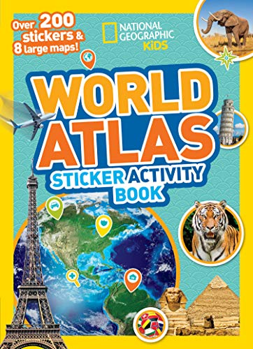 Geography Sticker - World Atlas Sticker Activity Book